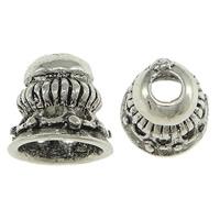 Messing Perlenkappe, antik silberfarben plattiert, frei von Nickel, Blei & Kadmium, 10x9mm, Bohrung:ca. 6mm, 3mm, 50PCs/Menge, verkauft von Menge