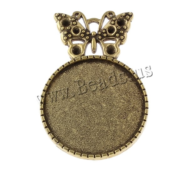 Buy Zinc Alloy Brooch Finding Butterfly antique bronze color plated nickel lead & cadmium free 27x40x2mm Inner Diameter:Approx 25 1 1.5mm 50PCs/Bag Sold Bag