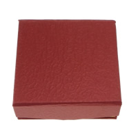 Karton Armbandkasten, mit Baumwollsamt, Rechteck, rot, 95x93x35mm, 72PCs/Menge, verkauft von Menge