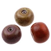 Glasierte Porzellan Perlen, Rondell, glaciert, gemischte Farben, 14-16mm, 19-20mm, Bohrung:ca. 3mm, 100PCs/Tasche, verkauft von Tasche