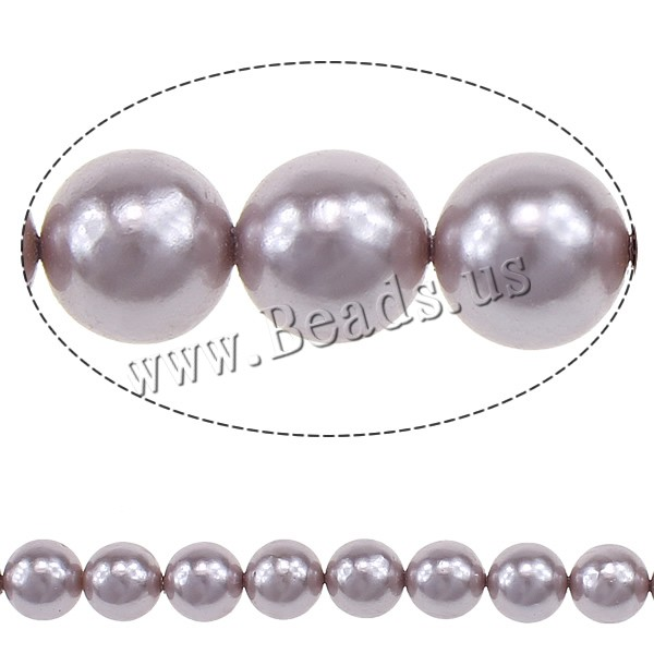 Buy South Sea Shell Beads Round light purple 8mm Hole:Approx 0.5mm 50PCs/Strand Sold Per 16 Inch Strand