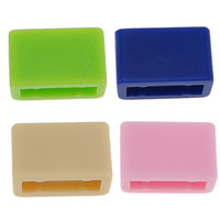 Kunststoff Schnalle, Rechteck, keine, 8x13x6mm, Innendurchmesser:ca. 11x3mm, 200PCs/Menge, verkauft von Menge