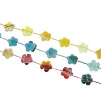 Natürliche Crackle Achat Perlen, Geknister Achat, Blume, keine, 20x20x7mm, Bohrung:ca. 1mm, ca. 12PCs/Strang, verkauft per ca. 15.7 ZollInch Strang