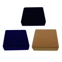 Baumwollsamt Halskettenkasten, mit Karton, Quadrat, keine, 195x45mm, verkauft von PC