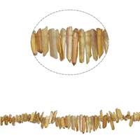 Natürlicher Citrin Perlen, Gelbquarz Perlen, Klumpen, November Birthstone, 17x7x5mm-46x4x6mm, Bohrung:ca. 1mm, ca. 88PCs/Strang, verkauft per ca. 15.3 ZollInch Strang