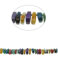 Natürliche Crackle Achat Perlen, Geknister Achat, gemischte Farben, 17x22x11mm-20x32x12mm, Bohrung:ca. 1mm, ca. 45PCs/Strang, verkauft per ca. 20 ZollInch Strang
