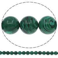 Malachit Perle, rund, verschiedene Größen vorhanden, Bohrung:ca. 1mm, Länge:ca. 15 ZollInch, verkauft von Menge