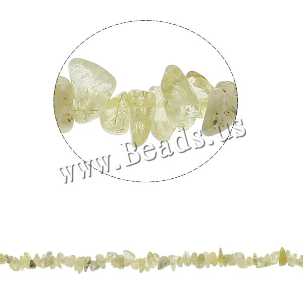Buy Gemstone Chips Rutilated Quartz 5-8mm Hole:Approx 0.8mm Approx 260PCs/Strand Sold Per Approx 34.6 Inch Strand