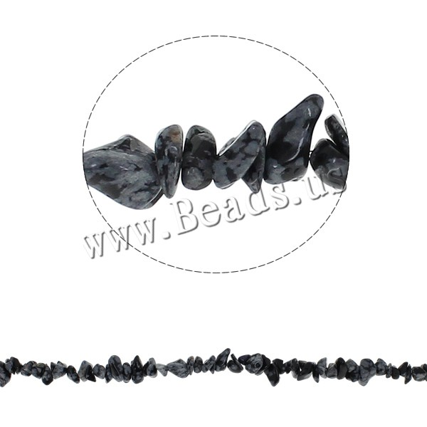 Buy Gemstone Chips Snowflake Obsidian 5-8mm Hole:Approx 0.8mm Approx 260PCs/Strand Sold Per Approx 34.6 Inch Strand