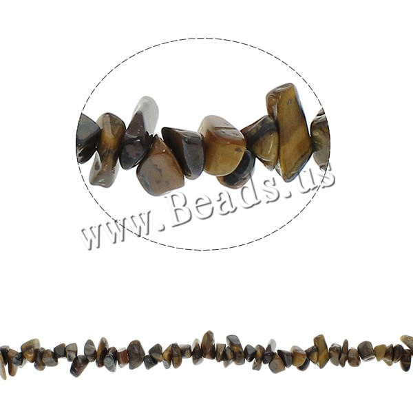 Buy Gemstone Chips Tiger Eye 5-8mm Hole:Approx 0.8mm Approx 260PCs/Strand Sold Per Approx 34.6 Inch Strand