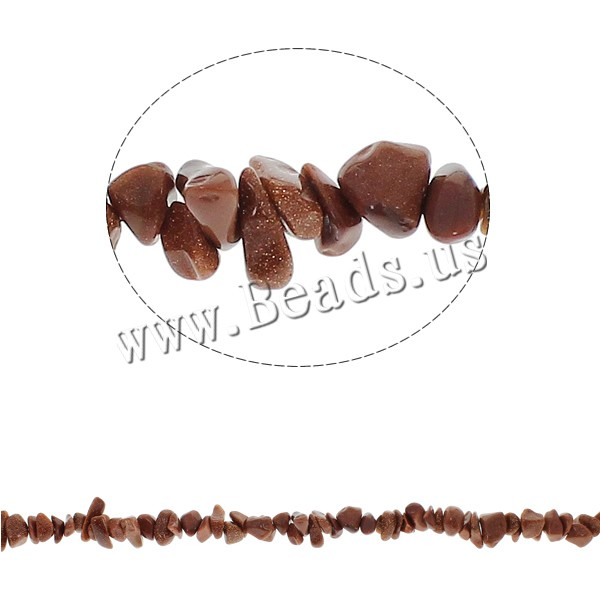 Gemstone Chips Goldstone 5-8mm Hole:Approx 0.8mm Approx 260PCs/Strand Sold Per Approx 34.6 Inch Strand