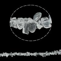 Edelstein-Span, Klarer Quarz, Bruchstück, 5-8mm, Bohrung:ca. 0.8mm, ca. 260PCs/Strang, verkauft per ca. 34.6 ZollInch Strang