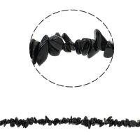 Edelstein-Span, Schwarzer Achat, Bruchstück, 5-8mm, Bohrung:ca. 0.8mm, ca. 260PCs/Strang, verkauft per ca. 34.6 ZollInch Strang