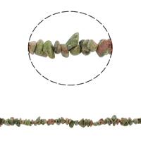 Unakit Perlen, Unakite, Klumpen, 5-8mm, Bohrung:ca. 0.8mm, ca. 260PCs/Strang, verkauft per ca. 34.6 ZollInch Strang