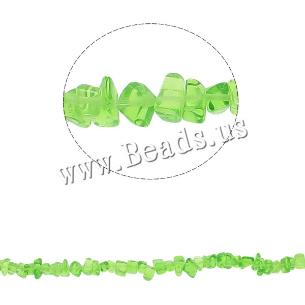Gemstone Chips Green Quartz 5-8mm Hole:Approx 0.8mm Approx 260PCs/Strand Sold Per Approx 34.6 Inch Strand