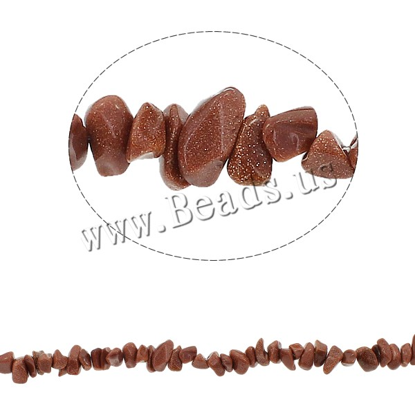 Buy Gemstone Chips Goldstone 5-8mm Hole:Approx 0.8mm Approx 260PCs/Strand Sold Per Approx 34.6 Inch Strand