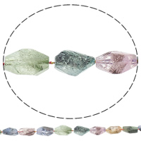 Druzy Beads, Natürlicher Quarz, Klumpen, druzy Stil & abgestufte Perlen, gemischte Farben, 9-21mm, 18-33mm, Bohrung:ca. 1mm, Länge:ca. 16 ZollInch, 5SträngeStrang/Tasche, ca. 17PCs/Strang, verkauft von Tasche