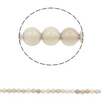 Natürliche graue Achat Perlen, Grauer Achat, rund, verschiedene Größen vorhanden, Bohrung:ca. 1mm, Länge:ca. 15 ZollInch, verkauft von Tasche