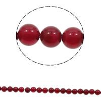 Natürlich rote Achat Perlen, Roter Achat, rund, verschiedene Größen vorhanden, Bohrung:ca. 1mm, Länge:ca. 15 ZollInch, verkauft von Tasche