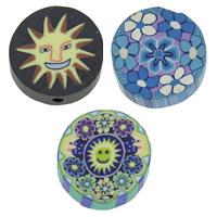 Polymer Ton Perlen , handgemacht, gemischt, 17x4.5mm, Bohrung:ca. 1mm, 100PCs/Tasche, verkauft von Tasche