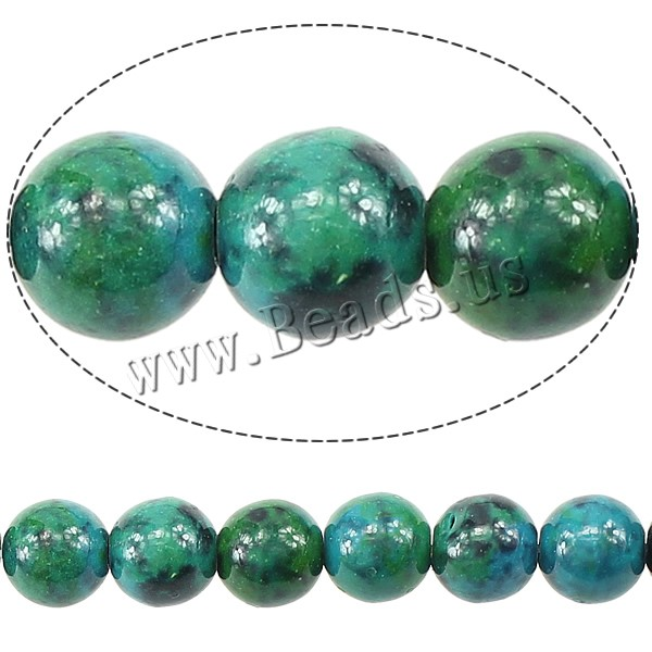 Buy Natural Malachite Beads Round 8mm Hole:Approx 1mm Length:Approx 16 Inch 20Strands/Lot Approx 49PCs/Strand Sold Lot