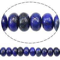 Synthetischer Lapislazuli Perlen, Rondell, 4x6mm, Bohrung:ca. 0.8mm, Länge:ca. 16 ZollInch, 5SträngeStrang/Menge, ca. 125PCs/Strang, verkauft von Menge