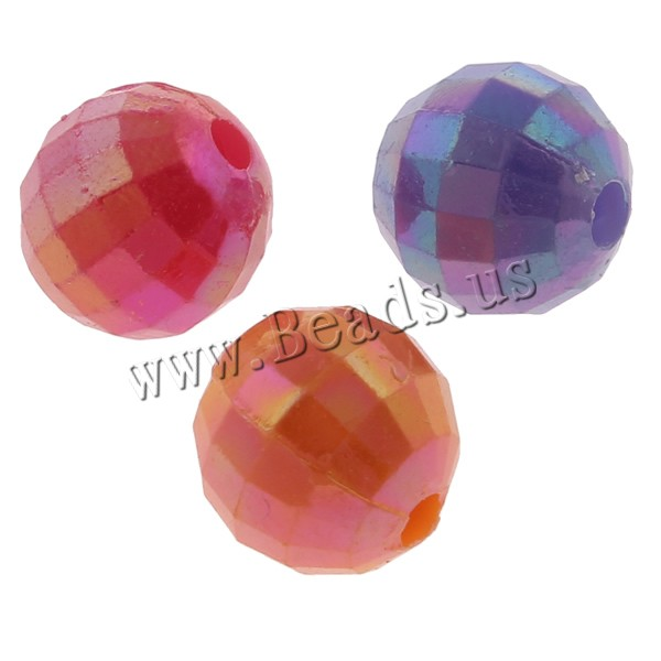Buy Plated Acrylic Beads Round AB color plated faceted & solid color mixed colors 8mm Hole:Approx 1mm Approx 1970PCs/Bag Sold Bag