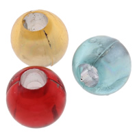 Transparente Acryl-Perlen, Acryl, rund, Silber Innen, gemischte Farben, 8mm, Bohrung:ca. 3mm, ca. 2600PCs/Tasche, verkauft von Tasche