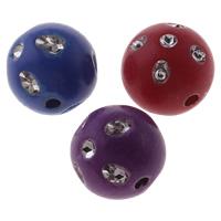 Silberdruck Acrylperlen, Acryl, rund, Volltonfarbe, gemischte Farben, 12mm, Bohrung:ca. 2mm, ca. 650PCs/Tasche, verkauft von Tasche