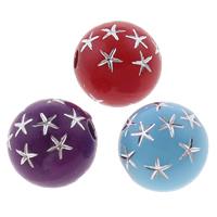 Silberdruck Acrylperlen, Acryl, rund, Volltonfarbe, gemischte Farben, 8mm, Bohrung:ca. 1mm, ca. 2000PCs/Tasche, verkauft von Tasche