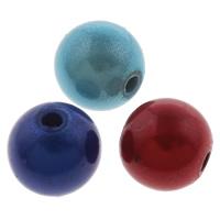 Traumhafte Acrylperlen, Acryl, rund, Spritzlackierung, verschiedene Größen vorhanden, gemischte Farben, Bohrung:ca. 1-1.5mm, verkauft von Tasche