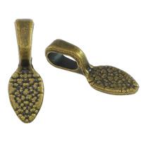 Zinklegierung Kleben Schmucköse, antike Bronzefarbe plattiert, frei von Nickel, Blei & Kadmium, 5x15x5mm, Bohrung:ca. 3x5mm, 1000PCs/Menge, verkauft von Menge