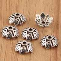 Bali Sterling Silber Perlenkappen, Thailand, Blume, hohl, 9x3.70mm, Bohrung:ca. 1.9mm, 100PCs/Menge, verkauft von Menge