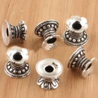 Bali Sterling Silber Perlenkappen, Thailand, doppelseitig, 10x7.50mm, Bohrung:ca. 2.8mm, 20PCs/Menge, verkauft von Menge