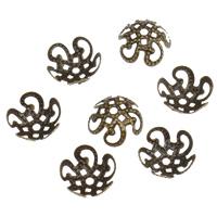 Eisen Perlenkappen, Blume, plattiert, keine, frei von Nickel, Blei & Kadmium, 10x6mm, Bohrung:ca. 1mm, 2000PCs/Tasche, verkauft von Tasche
