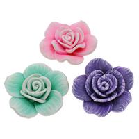 Polymer Ton Perlen , Blume, handgemacht, verschiedene Größen vorhanden, gemischte Farben, Bohrung:ca. 1-1.5mm, 100PCs/Tasche, verkauft von Tasche