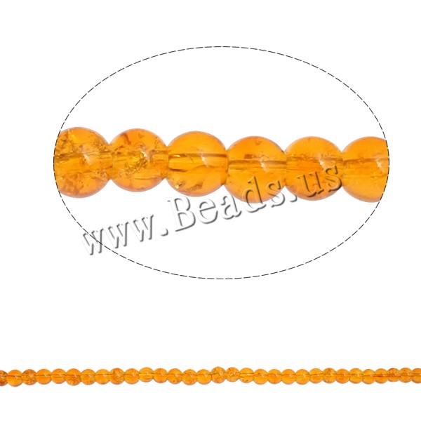 Buy Crackle Glass Beads Round reddish orange 6mm Hole:Approx 1mm Length:Approx 31 Inch 10Strands/Bag Approx 107PCs/Strand Sold Bag
