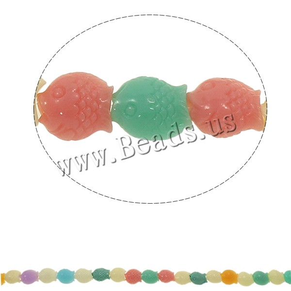 Buy Synthetic Coral Beads Fish multi-colored 13x15x8mm Hole:Approx 1-1.5mm Length:Approx 13 Inch 10Strands/Bag Approx 25PCs/Strand Sold Bag