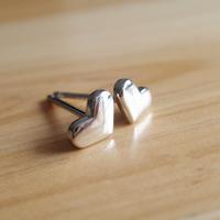Sterling Silber Schmuck Ohrring, 925 Sterling Silber, Herz, 5mm, verkauft von Paar