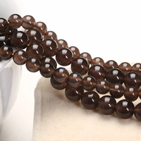 Schwarze Obsidian Perlen, Schwarzer Obsidian, rund, natürlich, verschiedene Größen vorhanden, Grade AAAAA, Länge:ca. 15 ZollInch, verkauft von Menge