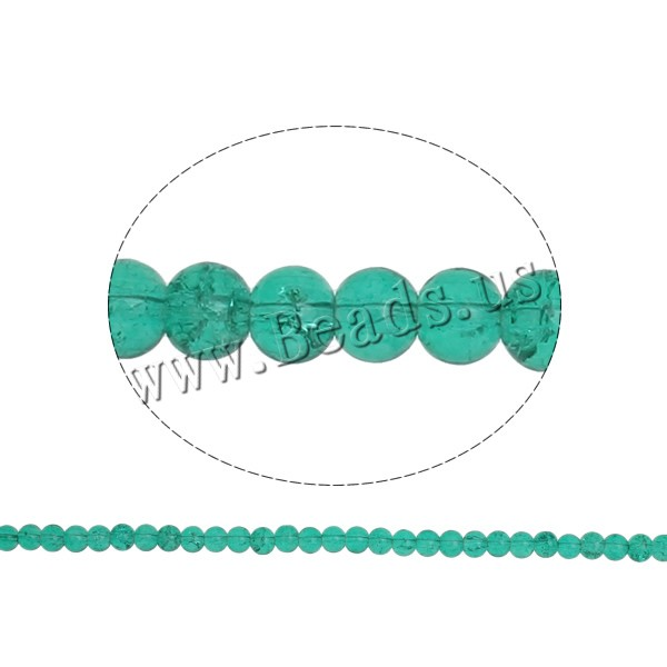 Buy Crackle Glass Beads Round dark green 6mm Hole:Approx 1.5mm Length:Approx 31.4 Inch 10Strands/Bag Sold Bag