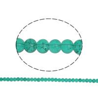 Knistern Glasperlen, Glas, rund, dunkelgrün, 6mm, Bohrung:ca. 1.5mm, Länge:ca. 31.4 ZollInch, 10SträngeStrang/Tasche, verkauft von Tasche