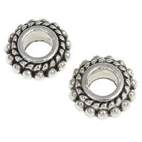 Zink Legierung Perlen Schmuck, Zinklegierung, Kreisring, antik silberfarben plattiert, frei von Nickel, Blei & Kadmium, 8x3.5mm, Bohrung:ca. 2.5mm, ca. 2174PCs/kg, verkauft von kg