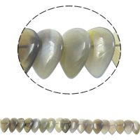 Natürliche graue Achat Perlen, Grauer Achat, Tropfen, 22x31x5mm, Bohrung:ca. 1mm, ca. 23PCs/Strang, verkauft per ca. 15.5 ZollInch Strang