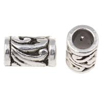 Zinklegierung Rohr Perlen, antik silberfarben plattiert, frei von Nickel, Blei & Kadmium, 11x7mm, Bohrung:ca. 4.5mm, ca. 820PCs/kg, verkauft von kg