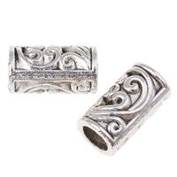 Zinklegierung Rohr Perlen, antik silberfarben plattiert, hohl, frei von Nickel, Blei & Kadmium, 8.5x5mm, Bohrung:ca. 3mm, ca. 2128PCs/kg, verkauft von kg
