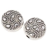 Zinklegierung flache Perlen, flache Runde, antik silberfarben plattiert, frei von Nickel, Blei & Kadmium, 10x5mm, Bohrung:ca. 1.5mm, ca. 625PCs/kg, verkauft von kg