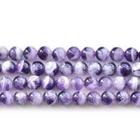 Natürliche Amethyst Perlen, rund, Februar Birthstone & verschiedene Größen vorhanden, Länge:ca. 15 ZollInch, verkauft von Menge