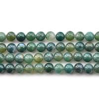 Natürliche Moos Achat Perlen, rund, verschiedene Größen vorhanden, Länge:ca. 15 ZollInch, verkauft von Menge
