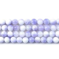 gefärbte Jade Perle, rund, verschiedene Größen vorhanden, violett, Länge:ca. 15 ZollInch, verkauft von Menge